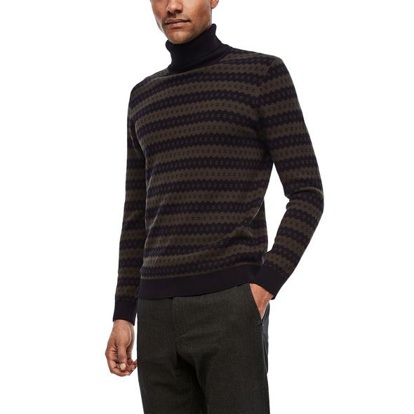 Turtleneck-Pullover mit Merinowolle - Wollpullover