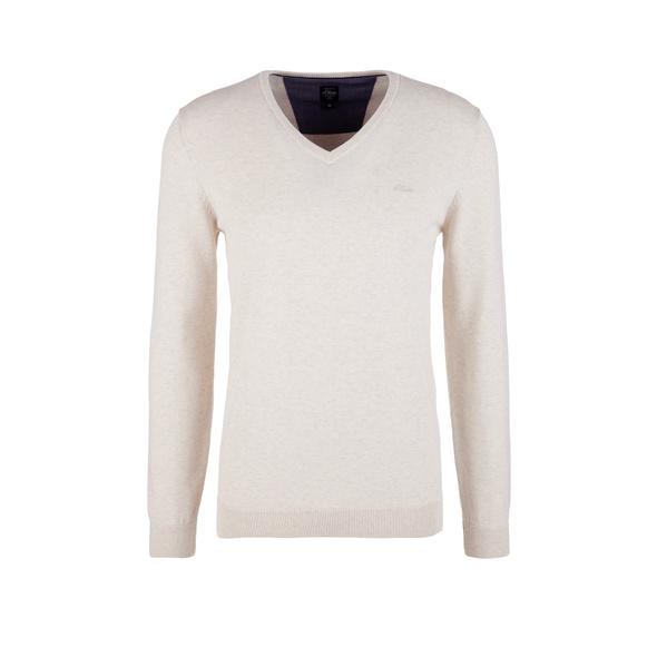 Feinstrickpulli mit V-Ausschnitt - Pullover