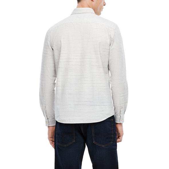 Regular: Gestreiftes Stretchhemd - Hemd