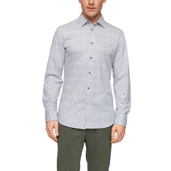 Slim Fit: Hemd mit Allover-Print - Hemd