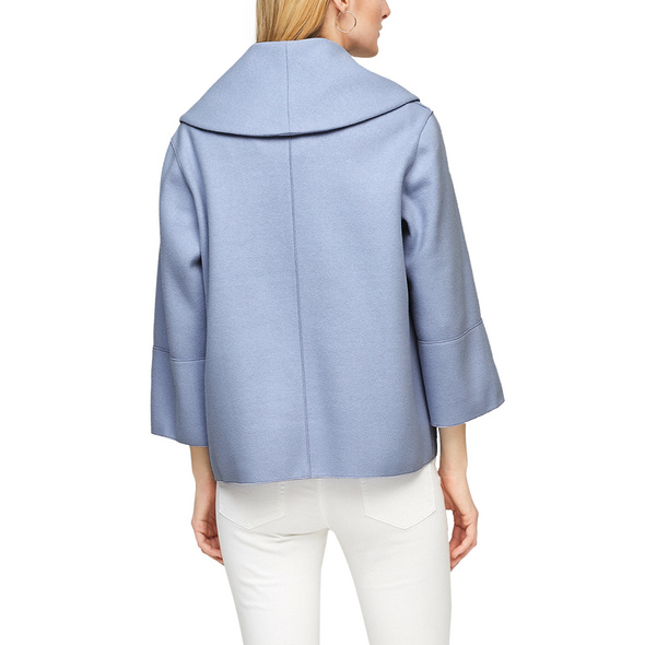 Wollmix-Jacke mit Umlegekragen - Wollmixjacke