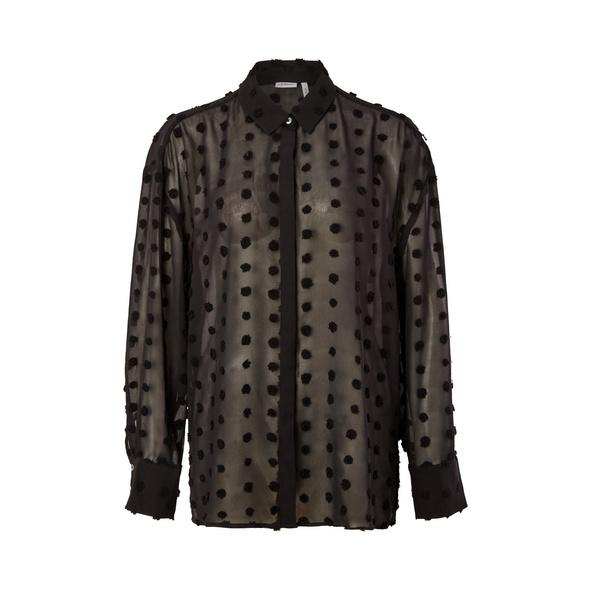 Chiffonbluse mit Punkten - Chiffon-Bluse