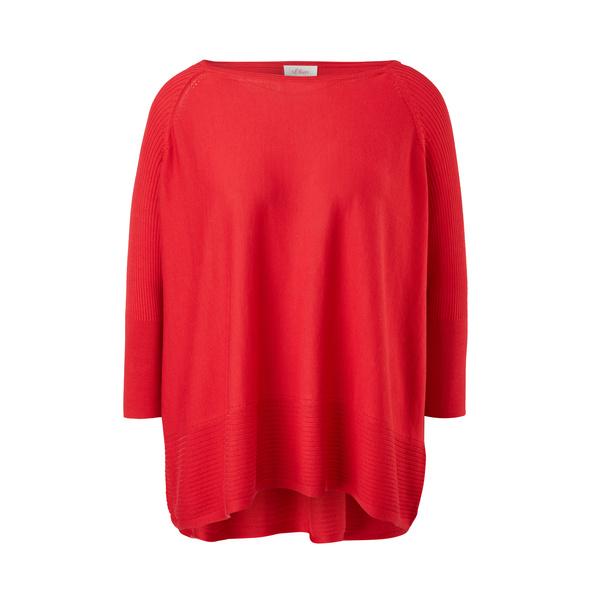 Raglanpullover mit Ripp-Details - Feinstrick-Pullover
