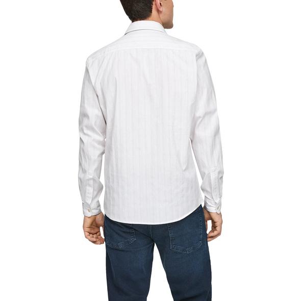 Regular: Hemd mit Chambray-Streifen - Hemd