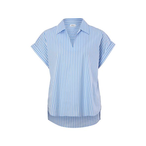 Bluse aus Baumwollmix - Kurzarmbluse