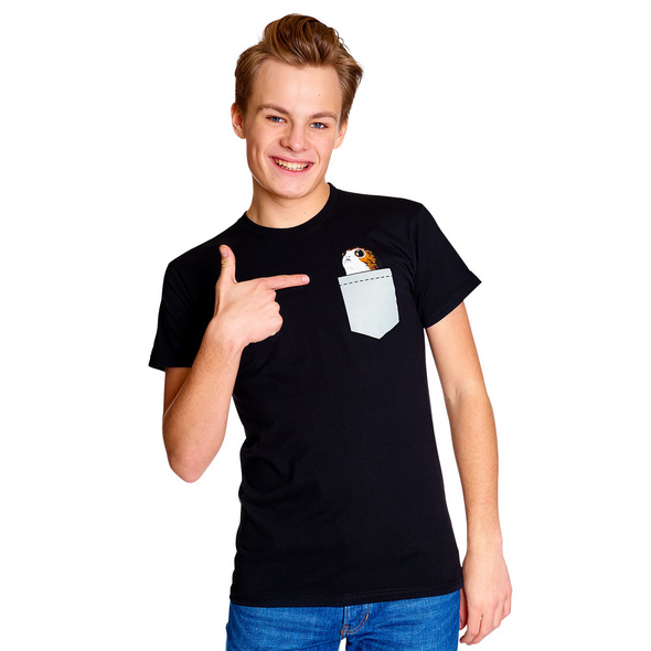Star Wars - Pocket Porg T-Shirt schwarz