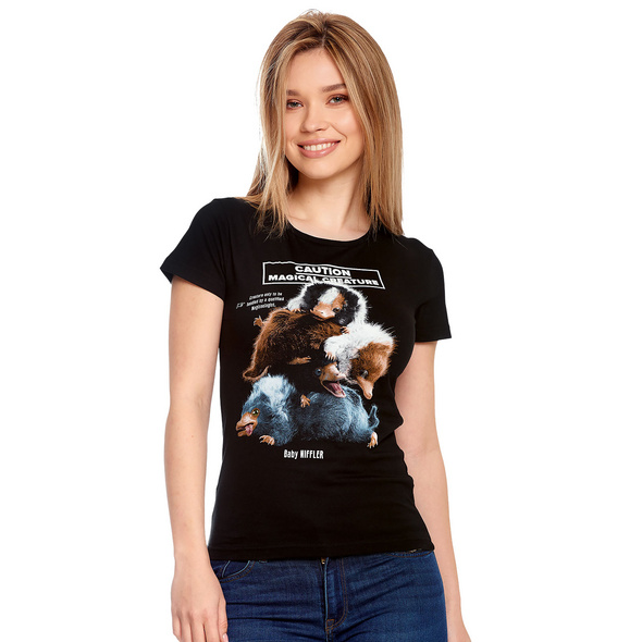Baby Niffler T-Shirt Damen schwarz - Phantastische Tierwesen