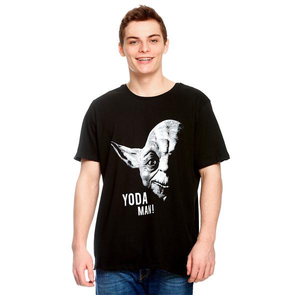 Star Wars - Yoda Man T-Shirt schwarz