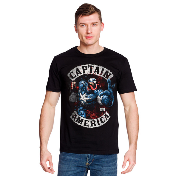 Captain America - Venomized T-Shirt schwarz
