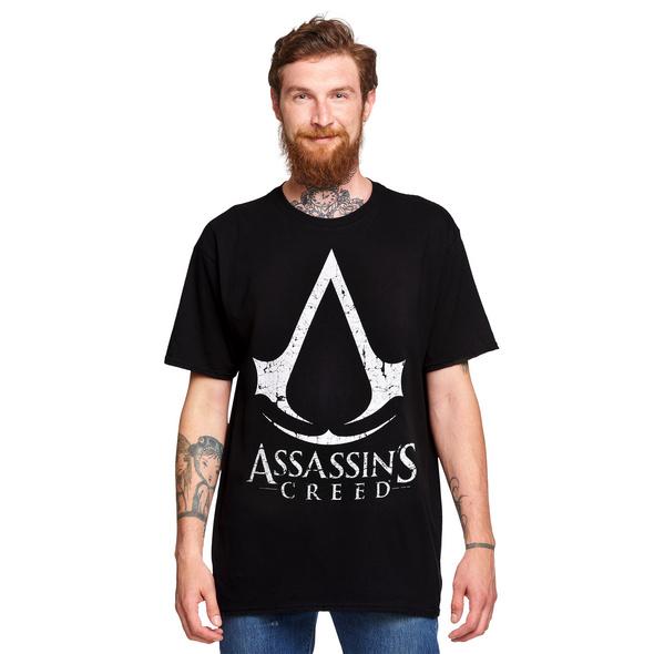 Assassins Creed - Cracked Logo T-Shirt schwarz