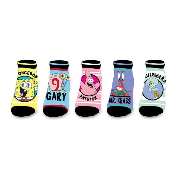 SpongeBob - Characters Sneaker Socken 5er Set