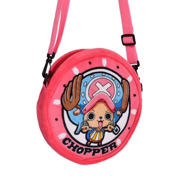 One Piece - Chopper Plüsch Umhängetasche rosa