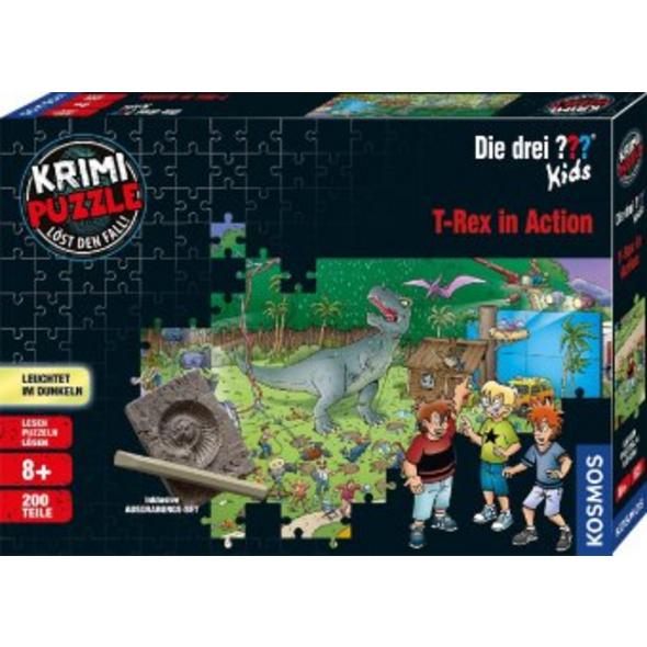 Krimi Puzzle: Die drei ??? Kids 200 Teile - T-Rex