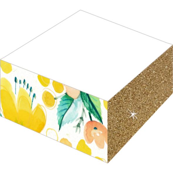 Notizblöcke mit Farb- und Glitterschnitt