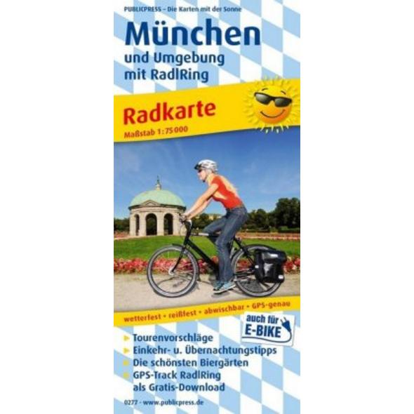 München und Umgebung mit RadlRing 1:75 000