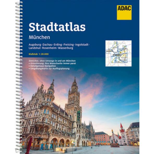 ADAC StadtAtlas München 1:20 000 mit Augsburg, Dac
