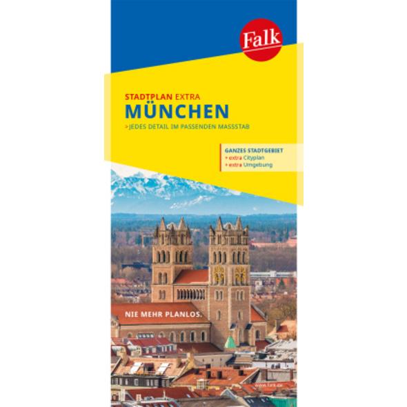 Falk Stadtplan Extra Standardfaltung München 1:20
