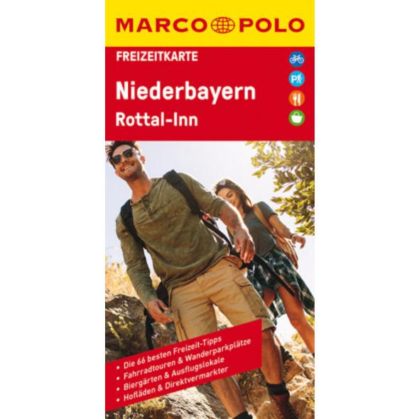 MARCO POLO Freizeitkarte Niederbayern, Rottal-Inn