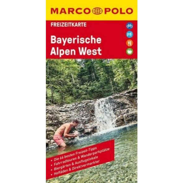MARCO POLO Freizeitkarte Bayerische Alpen West 1:1