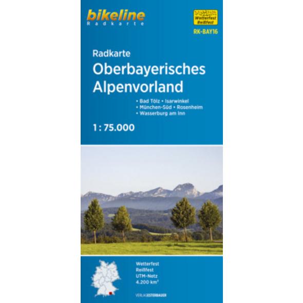 Bikeline Radkarte Oberbayerisches Alpenvorland 1 :