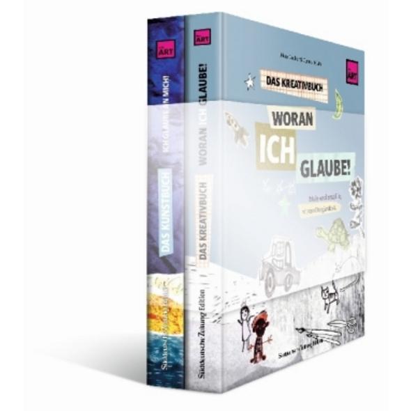 Kunstbuch und Kreativbuch im Set