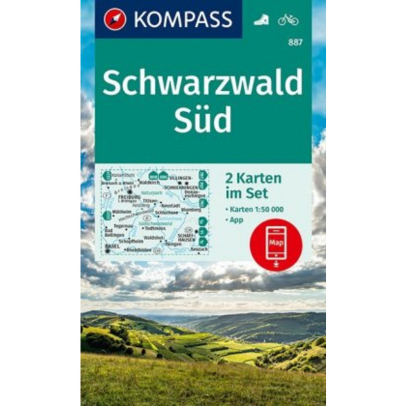 KOMPASS Wanderkarte Schwarzwald Süd 1:50 000