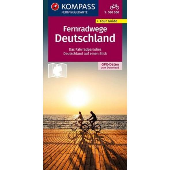 KOMPASS Radfernwege Deutschland 1:550 000