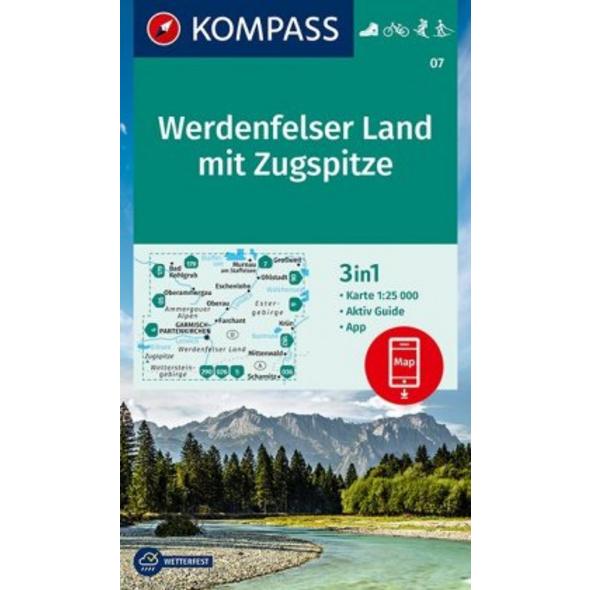 KOMPASS Wanderkarte Werdenfelser Land mit Zugspitz