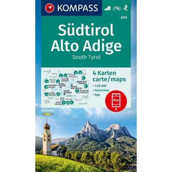 KOMPASS Wanderkarte Südtirol, Alto Adige, South Ty