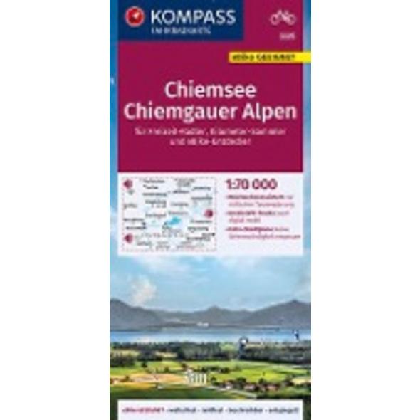 KOMPASS Fahrradkarte Chiemsee, Chiemgauer Alpen 1: