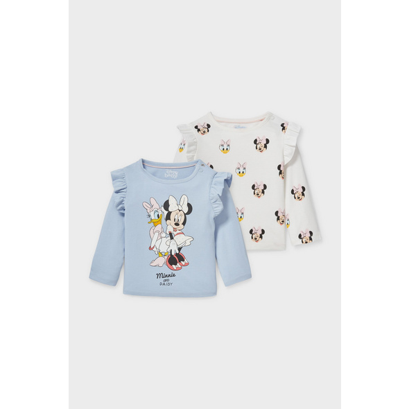 Multipack 2er - Disney - Baby-Langarmshirt - Bio-Baumwolle