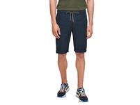 Regular Fit: Bermuda mit Leinen - Jeans
