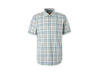 Regular: Kurzarmhemd mit Karos - Baumwollhemd