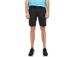 Slim: Chino-Bermuda mit Gürtel - Shorts