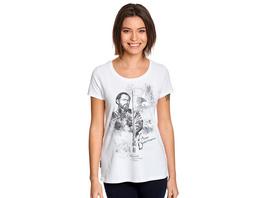 Dumbledore Sketch - Phantastische Tierwesen T-Shirt Damen weiß