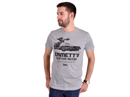 Zurück in die Zukunft - Emmetts Custom Autos T-Shirt grau