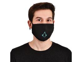 Assassins Creed - Valhalla Logo Gesichtsmaske schwarz