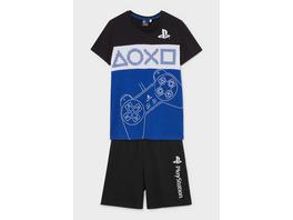 PlayStation - Shorty-Pyjama - Bio-Baumwolle - 2 teilig