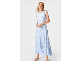 A-Linien Kleid - gestreift